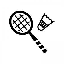 バドミントンのシルエット 無料のaipng白黒シルエットイラスト