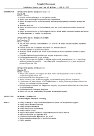 Operating Room Technician Resume Samples | Velvet Jobs