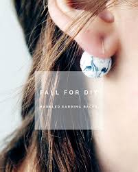 diy marbled earring backs