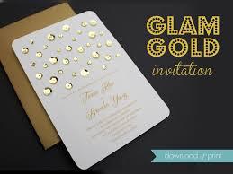 Wedding Invitation Downloads Diy Glam Gold Wedding Invitation Download Print