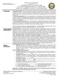 Probation Officer Resume Correctional Officer Resume Resumes Federal Sample Objective Skills 14