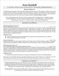 Machinist Resume Template Best Sample Machinist Resume Templates