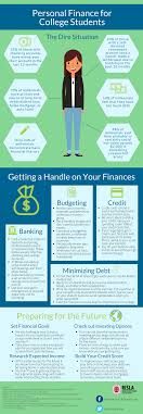 budgeting or personal finance for college students adulting personal finance for college students infographic