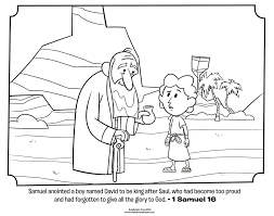 Small Picture Samuel Anoints David Bible Coloring Pages Whats in the Bible