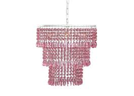 pink chandeliers