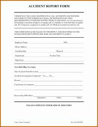 Examples Of An Incident Report Sample Format Form Example Letter For
