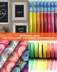 Shopping Resources: Decals, Removable Wallpaper, Washi Tape & Contact Paper  | Apartment Therapy