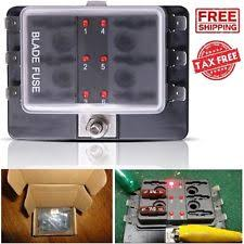 6 fuse block mictuning led illuminated 6 way fuse block holder box automotive blade cover car