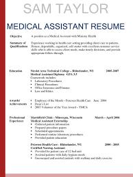Resume Templates For Medical Assistant Pointrobertsvacationrentals