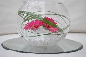 gerbera fish bowl glass fish bowl centerpiece