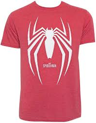 An updated version of his classic suit that looks more like modern athletic wear than spandex, with white carbon fiber armor reinforcements on the chest and back logos, backs of his hands, and knuckles. Spider Man Gamerverse Logo Men S T Shirt Amazon Com