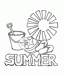 Small Picture Summer Coloring Page For Kids Seasons Pages Printables At Coloring