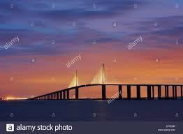 Skyway Pier Tide Chart Sunshine Bridge Night Tampa Bay Stock Photos Sunshine