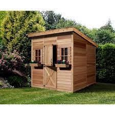 ft cedar storage shed