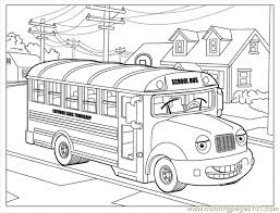 Small Picture Sally School Bus Coloring Page Free School Coloring Pages