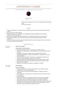Travel Consultant Resume samples