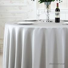 qiao jin tablecloth solid color satin round tablecloth hotel banquet restaurant round table cloth high grade