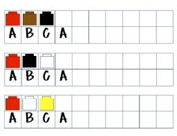 Abc Pattern Simple ABC Pattern Cards With Unifix Cubes Blocks Bears TpT