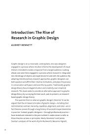 Graphic Design Essay Conclusion Pdf The Rise Of Research In Graphic Design