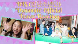 BTS (방탄소년단) 'Dynamite' Official Teaser Reaction - YouTube