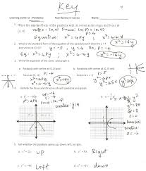 graphing parabolas equations worksheet answers jennarocca quadratics in standard form graphing quadratics in standard form worksheet