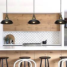 industrial pendant lighting for kitchen. Black Metal Industrial Hanging Pendant Light Vintage Commercial Kitchen Lamp Lighting For G
