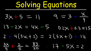 solving two step equations with fractions variables on both sides decimals paheses