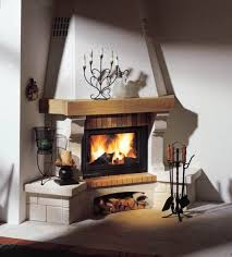 modern corner fireplace design