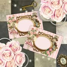 Details About Alice In Wonderland Name Cards Wedding Place Cards Tea Party Food Cards