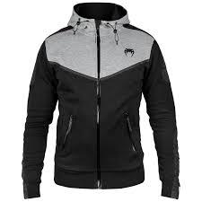 Black Hoodie With Design Venum Laser Evo Hoodie Black Heather Grey