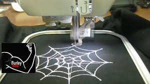 Halloween Spider Web Embroidery Design Created W SophieSew - Home machine embroidery designs