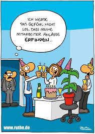 Büro Mitarbeiter Angestellte Chef Geburtstagsfeier Party Geburtstag