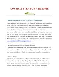 How To Make Cover Letter Of Resume How To Make A Cover Letter Resume For Job Do I Have My Your Cv 21