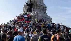 Cuba protesters rail against communist ...