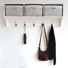 White Coat Rack With Storage Coat Racks stunning wall mounted coat rack with storage wall 5