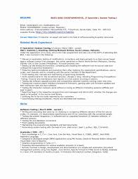 Sample Resume For Manual Testing Manual Testing Resume Sample Awesome Manual Tester Sample Resume 26