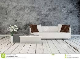 Modern Gray Living Room Tranquil Modern Grey Living Room Interior Stock Illustration