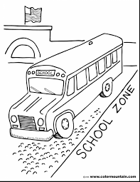 Small Picture Spectacular kid going back to school coloring page with school bus
