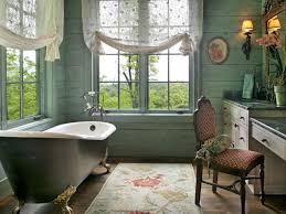 bathroom: Vintage Tropical Bathroom Themed Feat French Window And  Captivating Freestanding Bathtub Also Marvelous Marble