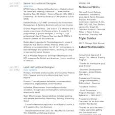 Instructional Design Resume Instructional Design Resume Sample