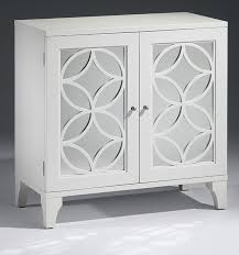 white cabinet furniture. Mirrored Furniture - Lacquered White Cabinet With Cut Out Design. R