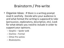 Writing Process Brainstorm Pre Write Thoughts Zero Draft Rough