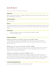 Inspiration Resume Skills For Fast Food Crew About Example Server