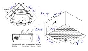 corner whirlpool tub dimensions. corner whirlpool bathtubs dimensions thevote tub l