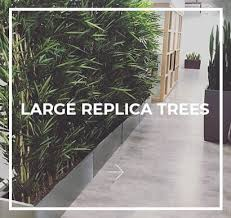 replica plants large artificial trees