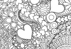 Small Picture Hearts And Flowers Coloring Pages Amazingly Exquisite Free