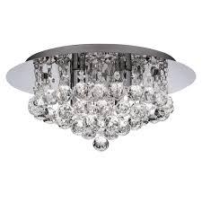 special offer searchlight 3404 4cc hanna 4 light crystal flush ceiling light