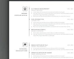 Creative Resume Template Free Unique Creative Resume Templates