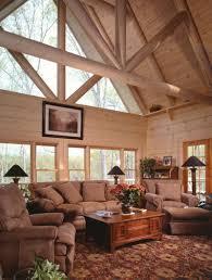 Living Room:Rustic Home Plan Living Room With Log Idea Log Home Cabin  Living Room