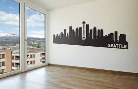 wall decals the personalized gift co seattle wall art ikea skyline vinyl decal a dea